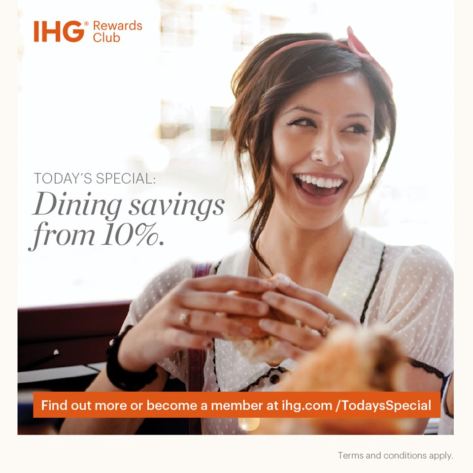 IHG Dine With Us And Enjoy Savings From 10% For Club And